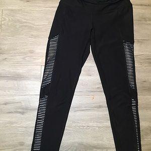 90 degrees by reflex, mesh insert down the leg